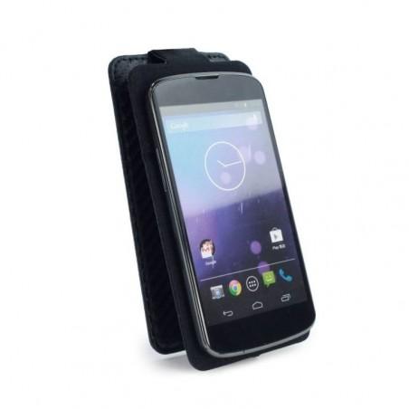 Tuff-Luv Uni-Fit Universal Faux Leren case cover / stand voor Smartphones - Zwart