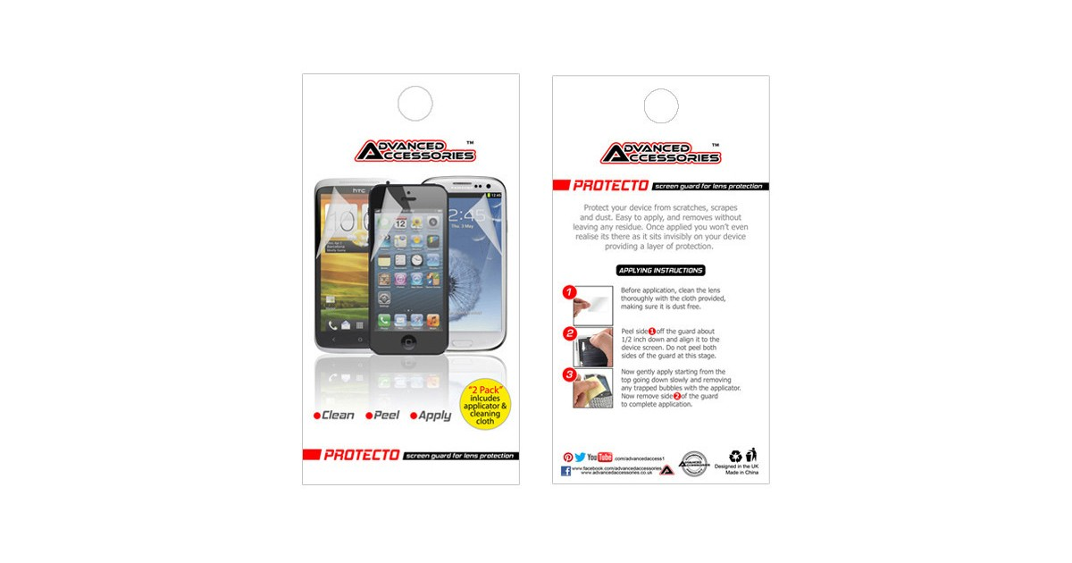 2 Pack - AA Iphone 6 Plus Screen Protectors / Guards