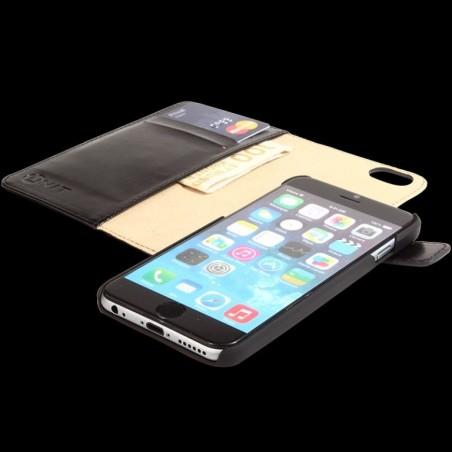 Unit 2 in 1 flip PU-leren hoesje voor iPhone 6 / 6S PLUS – Zwart