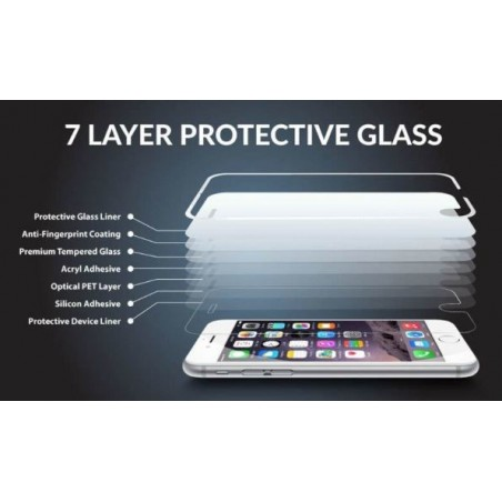 Unit Tempered Glass screen protector voor iPhone 6 / 6S - Wit