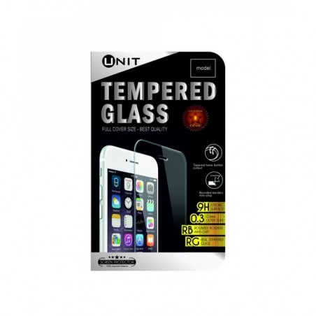 Unit Tempered Glass screen protector voor iPhone 6 PLUS / 6S PLUS - Zwart