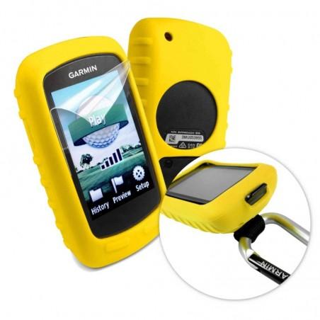 Tuff-Luv Silicone gel hoes / scherm bedekking voor Garmin Golf Approach G6 / G7- Geel