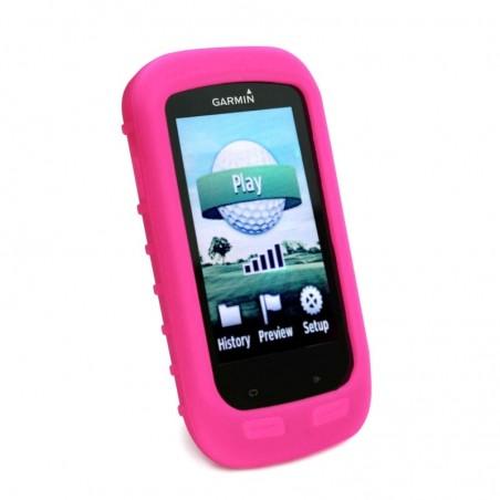 Tuff-Luv Silicone Gel hoes & scherm bedekking voor Garmin Golf Approach G8- Roze