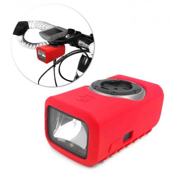 Tuff-Luv Silicone Gel bescherm hoes voor Garmin Varia Light- Rood