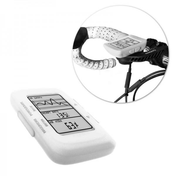 Tuff-Luv Silicone Gel bescherm hoes voor Garmin Edge 500 / 200 en screen protector- Wit