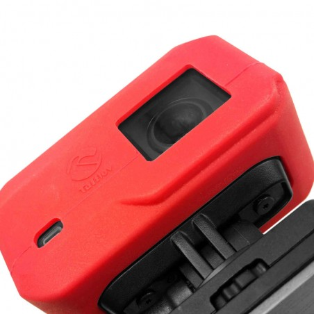 Tuff-Luv Silicone Gel hoes voor Garmin Virb X / XE Camera- Rood