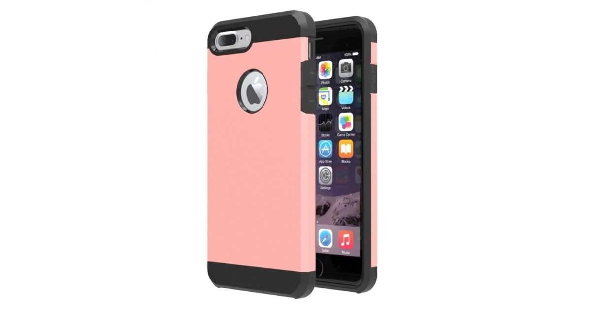 Tuff Luv Twin Armour TPU case voor iphone 7 Plus - Rose Goud