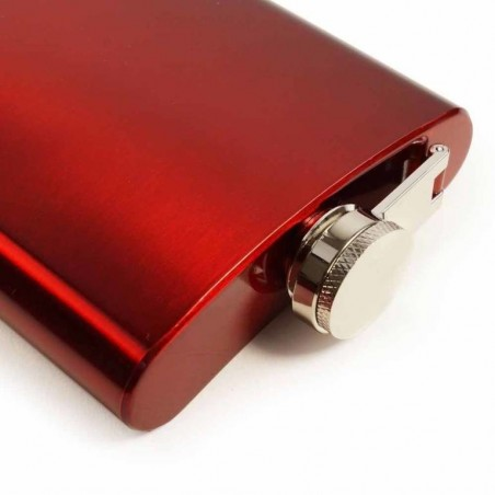 E-Volve - RVS Heupfles - 180 ml - Rood