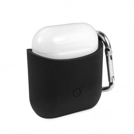 Tuff-luv - Siliconen hoesje voor de Apple airpods  headphones - zwart