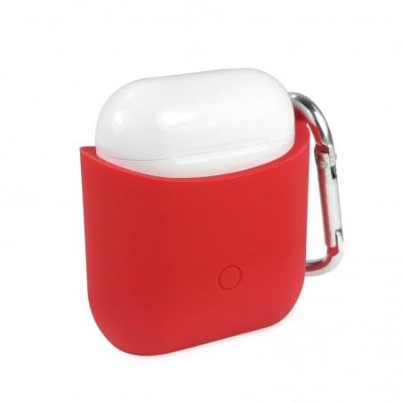Tuff-luv - Siliconen hoesje voor de Apple airpods  headphones - rood