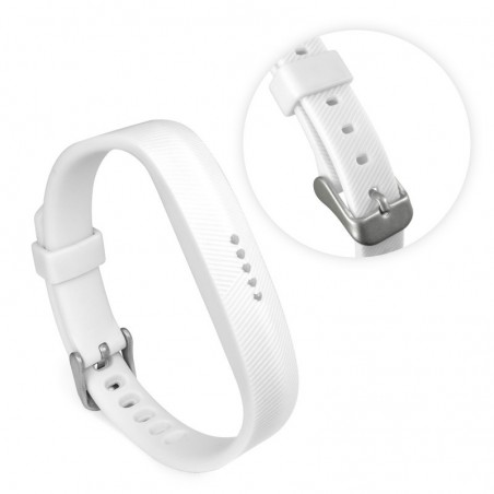 Tuff-luv - TPU verstelbare silicone band voor fit bit  flex 2 - wit