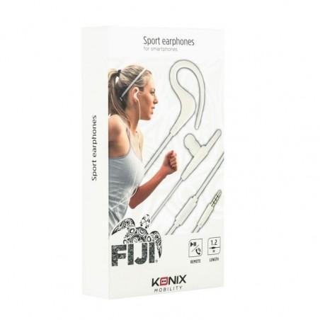 Konix Fiji Sport - In ear koptelefoon - Bedraad - Wit