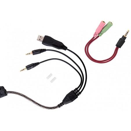 Rampage SN-R5 X-Core Gaming headset zwart met rood