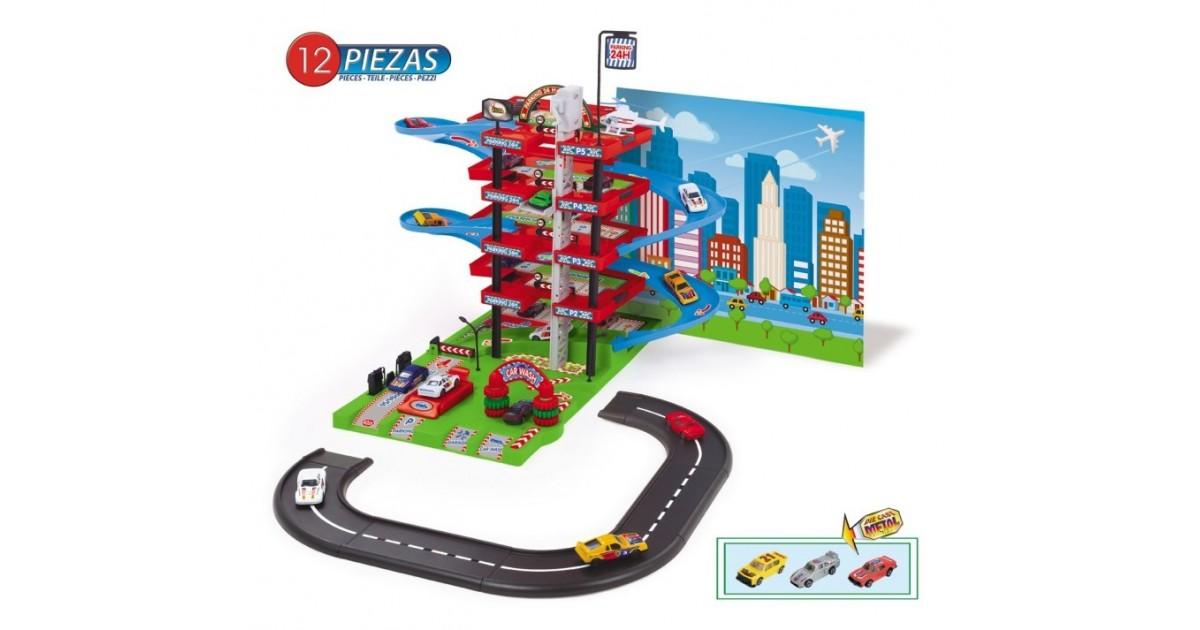 Garage Auto Center - Garage - Met Circuit, 3 Auto's en een Helikopter