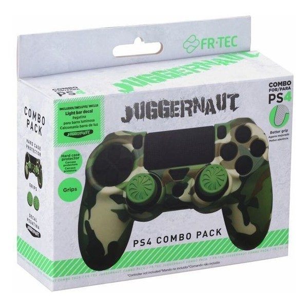 Playstation 4 - Combo Pack - Hard Case voor Controller - Thumb Grips en Lightbar Sticker