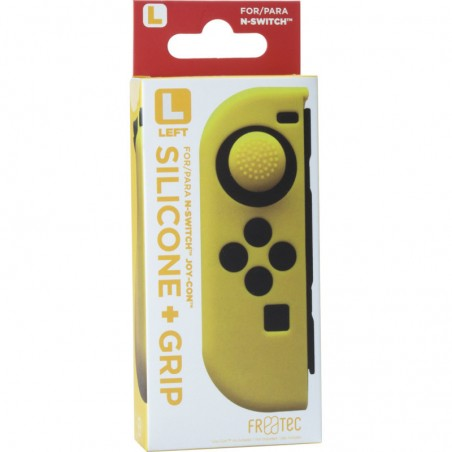 Joy Con Silicone Skin + Grip - Left - Yellow voor Nintendo SWITCH