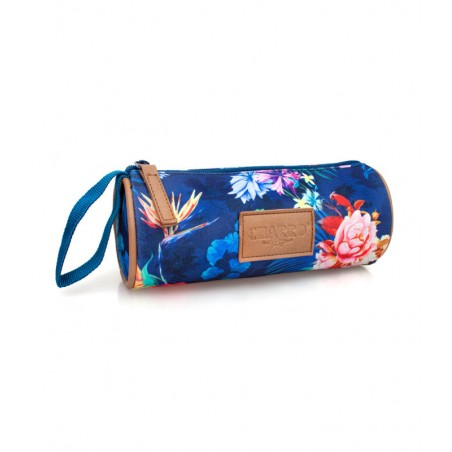 El Charro - Etui Rond - Bloemen - Blauw - 21 cm