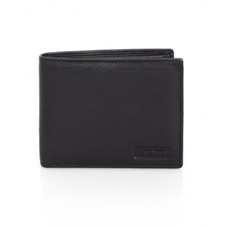 Delbag - Leren Portemonnee uitklapbaar - Zwart