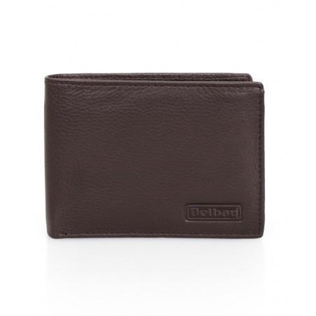 Delbag - Leren creditcard houder - Leren Portemonnee en pasjeshouder - Bruin