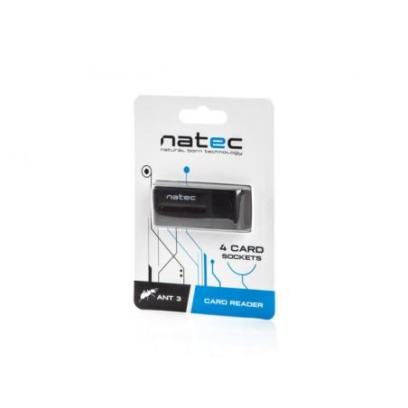 Natec Mini Ant 3 - Kaart lezer - SDHC - USB 2.0 - Zwart