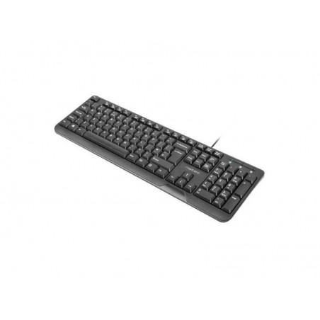 Natec Trout toetsenbord - slank ontwerp - zwart