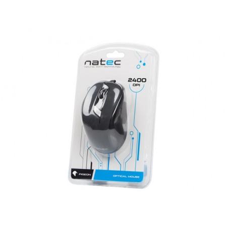 Natec Pigeon - Optische muis - Bedraad - Zwart