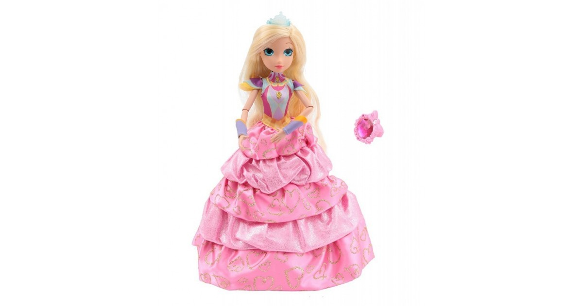 Regal Academy - Pop - Diamond Princess Rose - met Lipgloss Ring