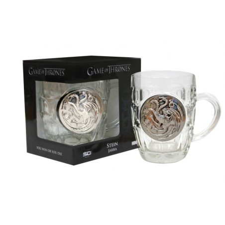 Game of Thrones - Glas met metallic logo - Targaryen