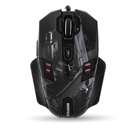 Rampage Gaming Muis GX-Core8 - Pistool Opdruk - 4000 DPI
