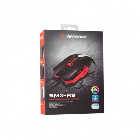 Rampage everest SMX-R8 LED 4000 dpi macro gaming muis
