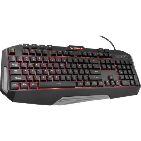 Rampage Gaming Toetsenbord - KB-RX7 Alpor - achtergrond verlichting- US Layout - zwart-rood