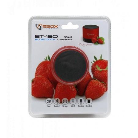 Sbox - Draadloze Bluetooth speaker BT160B Strawberry - Rood