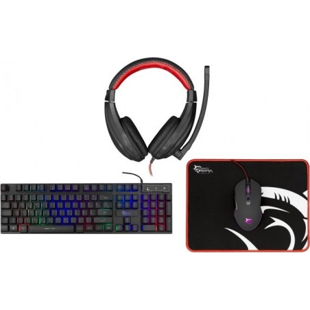 White Shark Comanche 2 - 4 in 1 PC Gaming combo set - RGB toetsenbord - Headset - muis - muismat