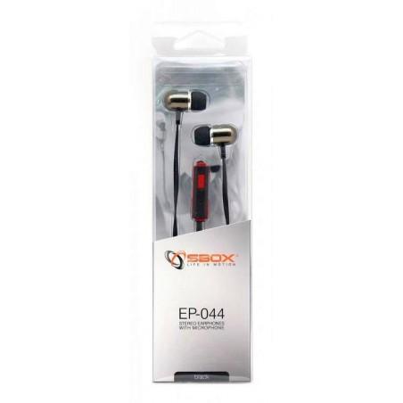 Sbox in-ear headset EP-044B - Zwart