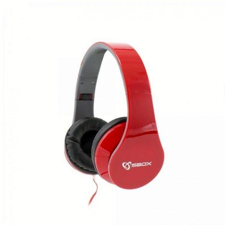 Sbox Koptelefoon HS-501R Strawberry - Rood