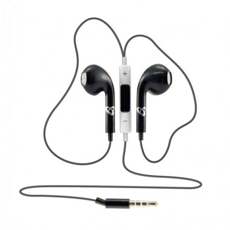 Sbox in-ear koptelefoon bedraad apple look IEP-204 Zwart 3.5 jack