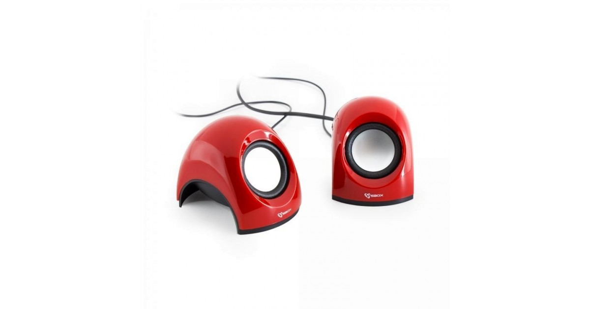 Sbox 2,0 Speaker SP-092R Strawberry, Red
