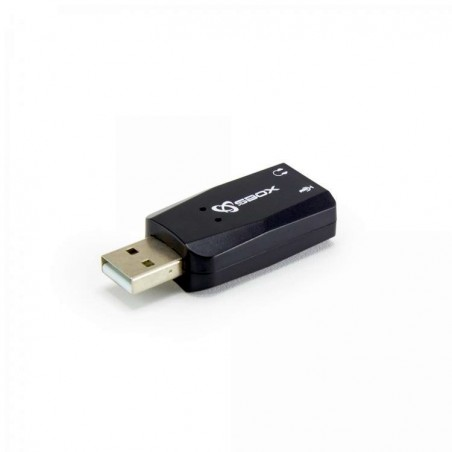 Sbox usb soundcard-stick USBC-11 Black
