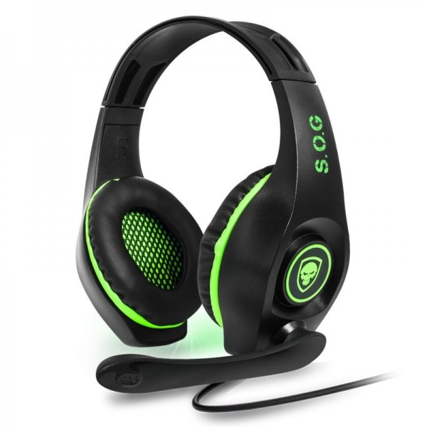 Spirit of Gamer - Pro-XH5 XBOX One Gaming Headset - Groen