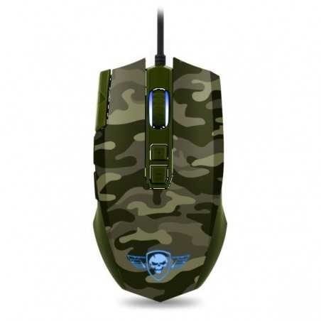Spirit of Gamer Elite M50 army edition 4000 dpi gaming muis met LED verlichting