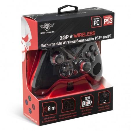 Spirit of Gamer - Wireless Controler XGP - 2.4 Ghz - Nano USB - PC - PS3 -  Zwart met Rood