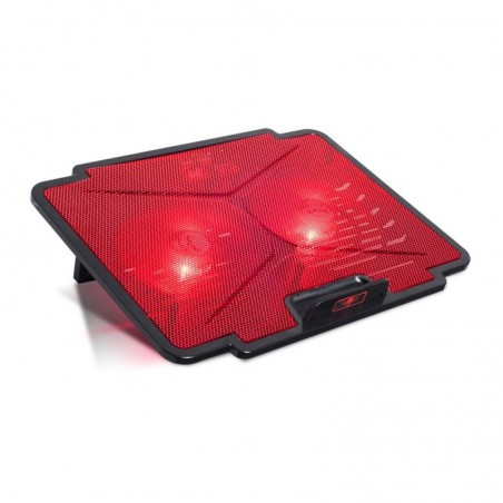 Spirit of Gamer - Laptop Cooling pad - Koeler Blade 100 - tot 15,6 inch - Rood