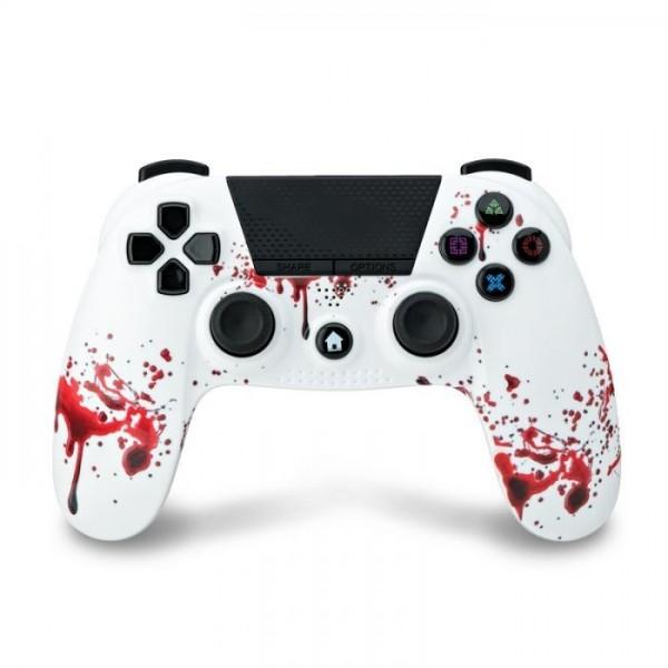 Under Control- PS4 bluetooth controller met koptelefoon aansluiting - zombie