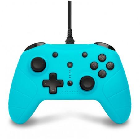 Under Control Controller - Nintendo Switch - Bedraad - Blauw