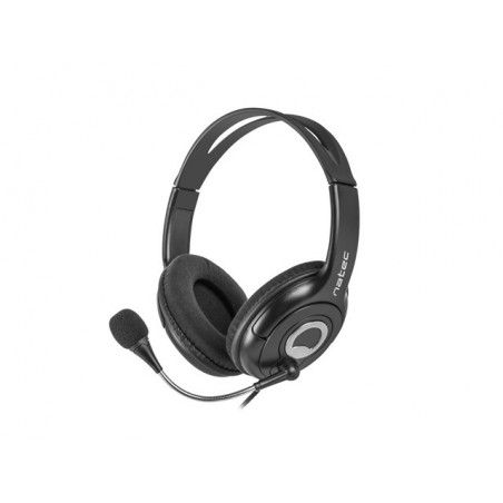 Natec Bear 2 headset met microfoon - zwart