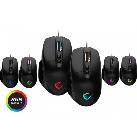 Rampage SMX-R90 Sector gaming muis - RGB -16.000 dpi