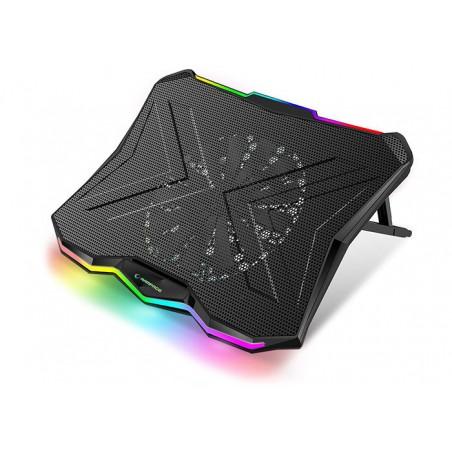 Rampage AD-RC8 Showy RGB Laptop Cooling pad- laptop koeler - 17,3 inch