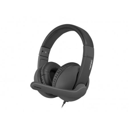 Natec Rhea headset met microfoon - zwart