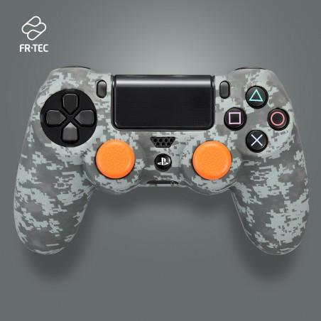 Siliconen hoes voor Sony Dualshock controller en Grips - Camouflage - Pixel Black