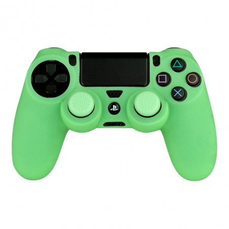 Playstation 4 - Siliconen controller skin inclusief thumbs grips - Glow in the Dark groen